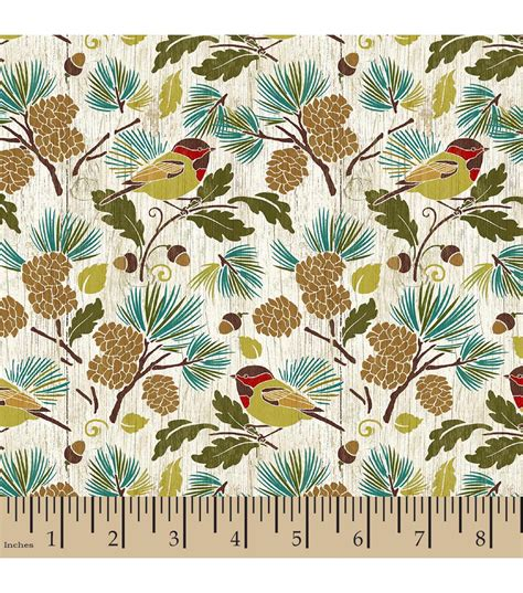 Bird Quilting Fabric by Legacy Studio Quilt Fabric Bird In Pines Lake House Jo