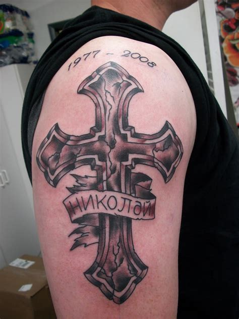 mens cross tattoo rip tattoos designs ideas and meaning tattoos for you
