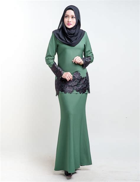 Dress Premiumdress Lengan Pendekfashion Dresspolossimpleal 22 best images about kurung moden lace on lace mermaids and emerald green