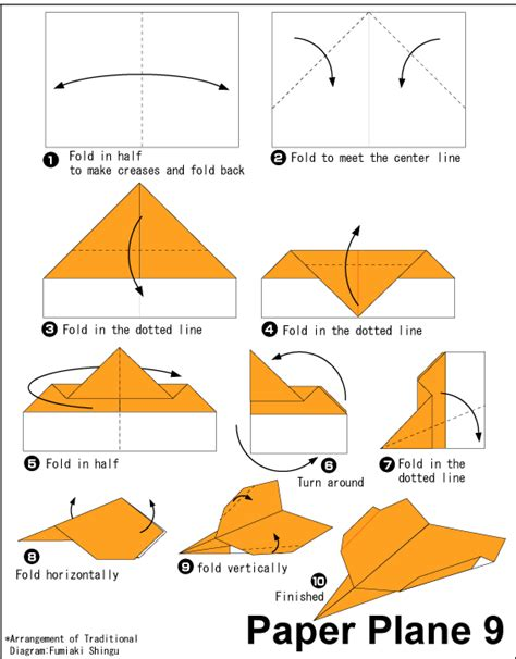 Directions To Make Paper Airplanes - origami paper plane 9 easy origami for