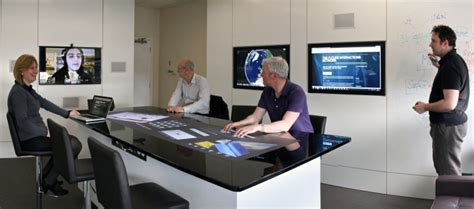 Touch Screen Conference Table Interactive Touch Display Avorigins