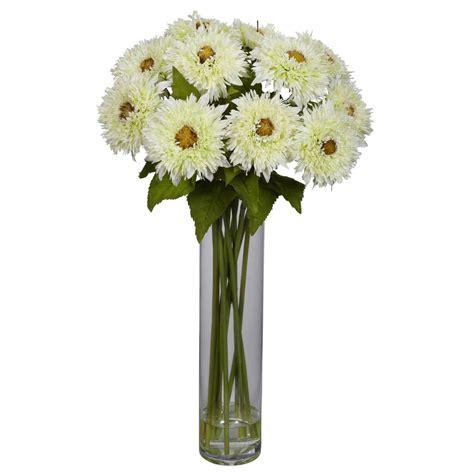 Vase Arrangements by Silk Sunflower Arrangement With Cylinder Vase 1246 Nearly