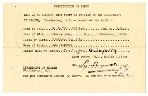 South Carolina Vital Records Birth Certificate Images Of Birth Certificates Business Cards And
