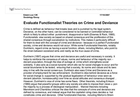 Social Theory Of Crime Essay by Deviance Essays