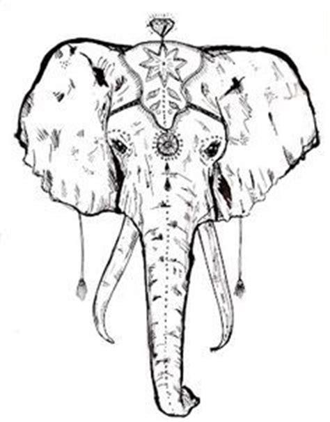 pattern elephant head drawing gallery elephant face drawing drawings art gallery