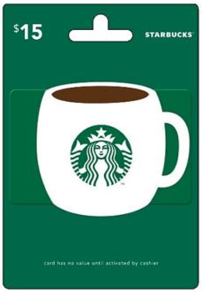 Sending A Starbucks Gift Card Online - 15 starbucks gift card only 750 huggies rewards points