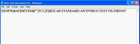 eicar test test anti virus with text file linglom