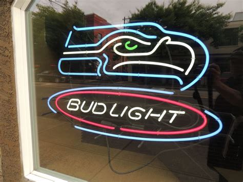 bud light nfl neon sign neon beer sign seattle seahawks bud light nfl neon