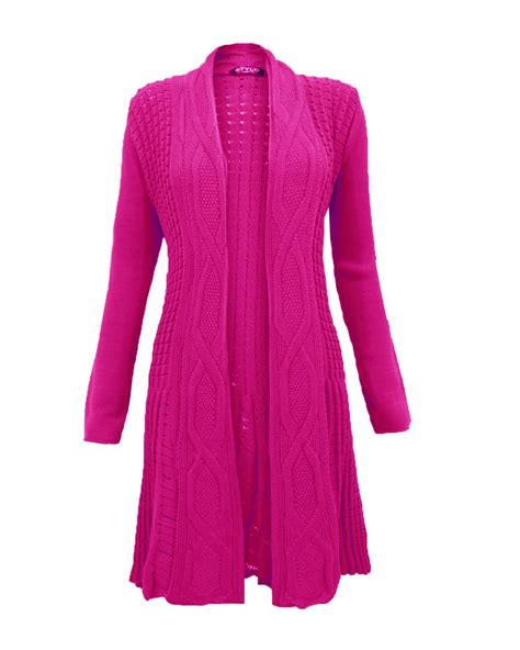 Dress With Cardigan 3 womens knitted boyfriend sleeve cardigan dress top cable knit jumper ebay