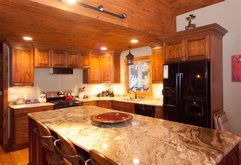 Microwave In Kitchen Island a chalet for all seasons the villager ellicottville ny