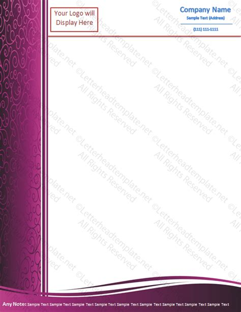custom template purple grapy letterhead template