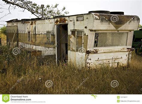 single wide trailer disrepair junk stock image image