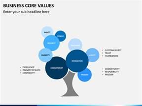 business core values powerpoint template sketchbubble