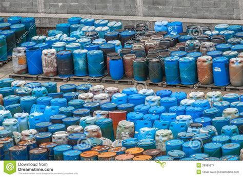 Dump Chemistry Designed By Bonaque by Chemical Waste Dump With A Lot Of Barrels Stock Images