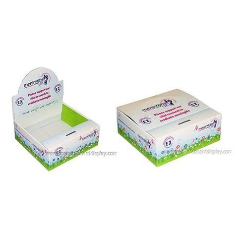 Cardboard Shelf Display Boxes foldable cardboard counter display box portable cardboard display case high quality cardboard