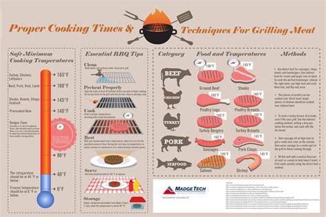 cooking infographic how to grill a visual guide on how to grill meats