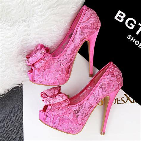 High Heels Pink B pink high heels with bow is heel