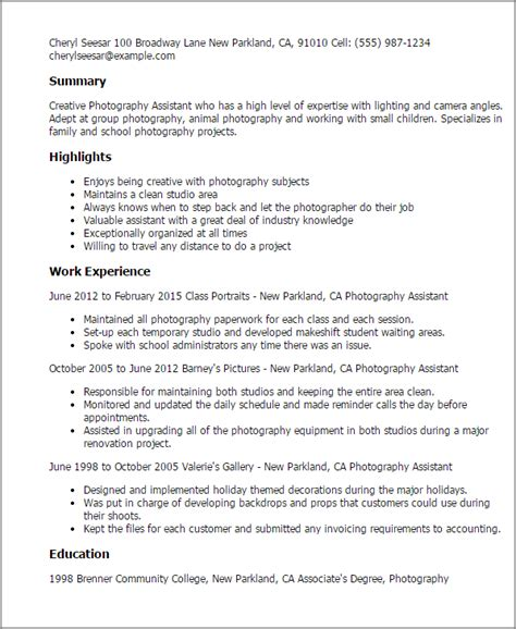 Resume Sles Nz photographer resume exle 28 images photographer resume