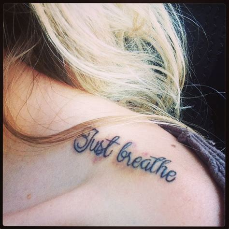 breathe tattoo just breathe