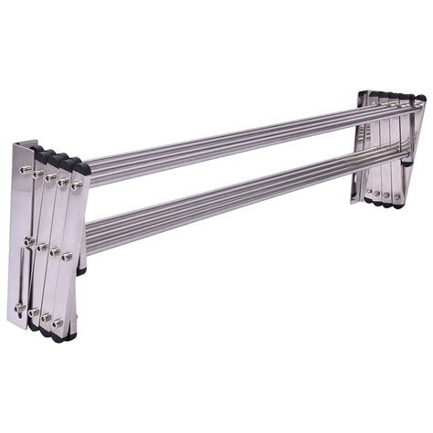 Drying Towel Rack by Stainless Wall Mounted Expandable Clothes Drying Towel