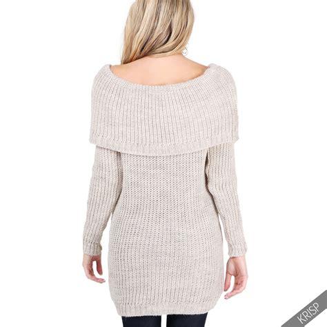 chunky knit jumper womens shoulder winter chunky knit bodycon jumper dress