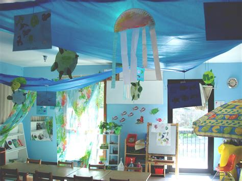 Doing Activity Of Decorating With Classroom Decoration Nursery School Decorating Ideas