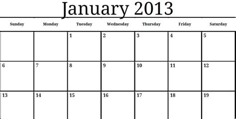 printable quarterly calendar 2013 printable pdf january calendar for 2013 printable