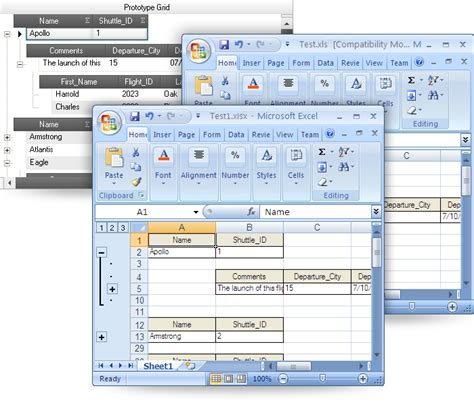 format control buttons excel 2007 grid excel exporter