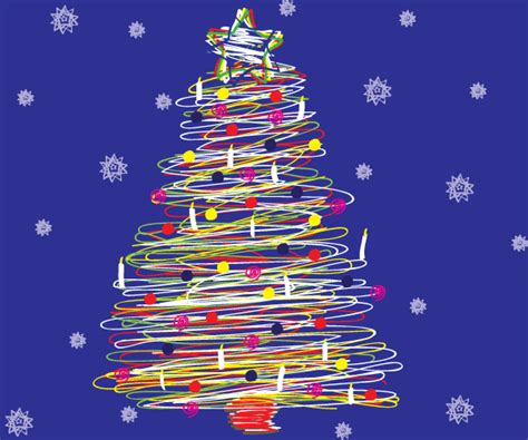 free scribble christmas tree vector 123freevectors