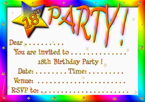 18th birthday card invitation templates 18th birthday invitations theruntime