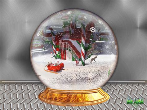 pics for gt christmas snow globes wallpaper