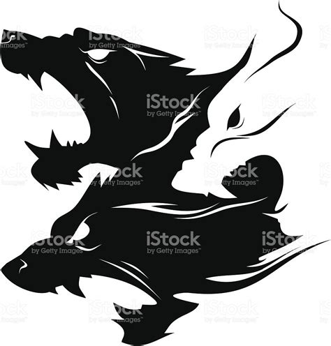 cerberus stock vector art amp more images of black and white