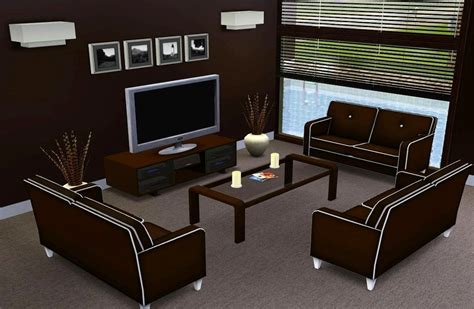 Sims 2 Living Room by Mod The Sims Modern Abode
