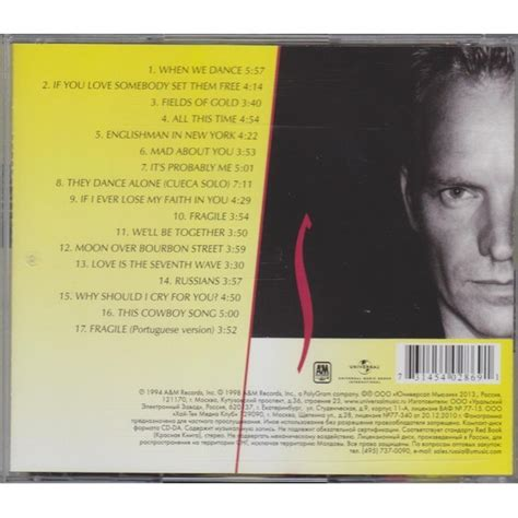 sting fields of gold best of fields of gold the best of sting 1984 1994 sting