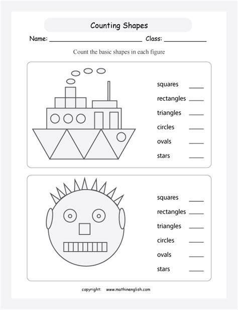 shapes and patterns worksheet for grade 1 number names worksheets 187 counting shapes worksheet free