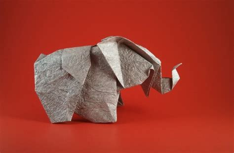Origami Baby Elephant - origami elephants 3 gilad s origami page