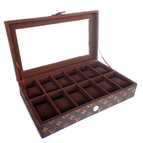 Kotak Jam Tangan Isi 12 Biru 2 jual beli kualitas kotak jam tangan isi 12 box jam tangan coklat lv baru tempat