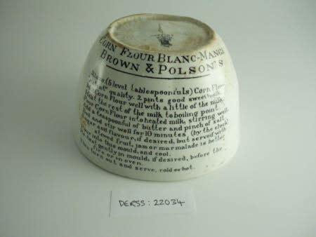 ceramic blancmange mould blancmange mould 660770 national trust collections