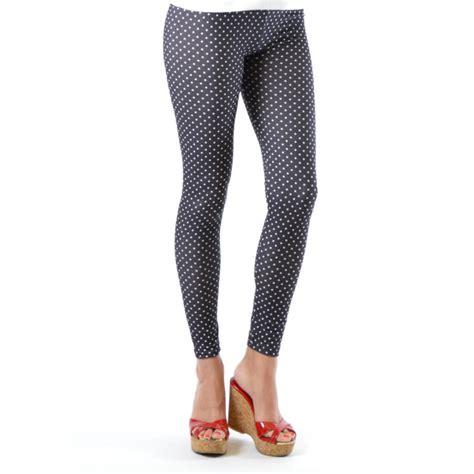 Legging Polkadot White dinamit s fashion seamless white polka dot footless ebay
