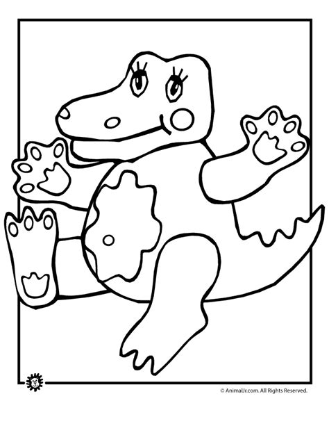cute alligator coloring page woo jr kids activities