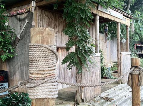 hometalk garden shed turned tiki bar