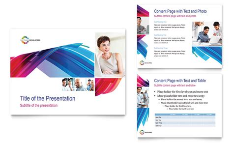 presentation layout pdf software solutions powerpoint presentation powerpoint
