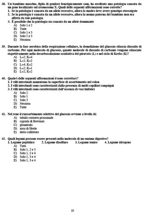test medicina 2009 test medicina tutti i quesiti 2014 il post
