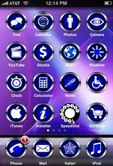 chrome themes for iphone featured iphone theme blue chrome isource