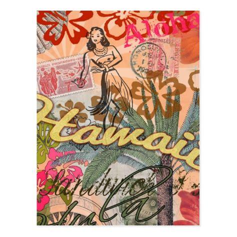 Printable Hawaiian Postcards | vintage hawaii travel colorful hawaiian tropical postcard
