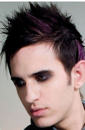 short spikey hair styles pink streak men light punky haircut with spiky hair and pink high