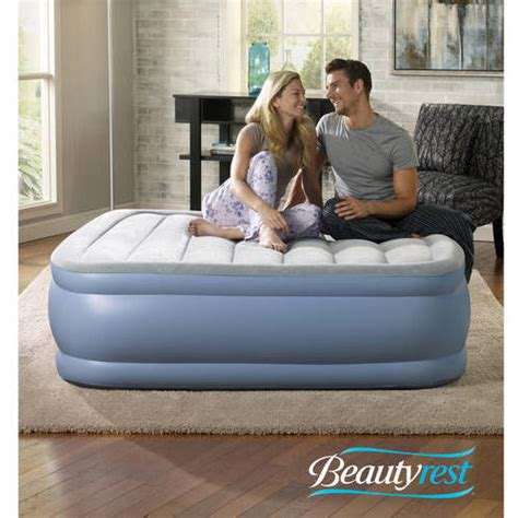 simmons beautyrest hi loft raised air bed mattress with express sizes walmart
