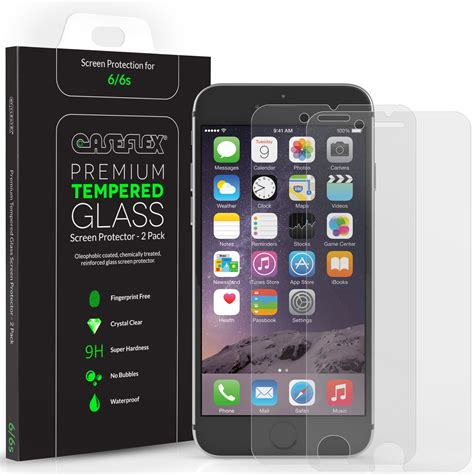 caseflex iphone 6s screen protector tempered glass 2