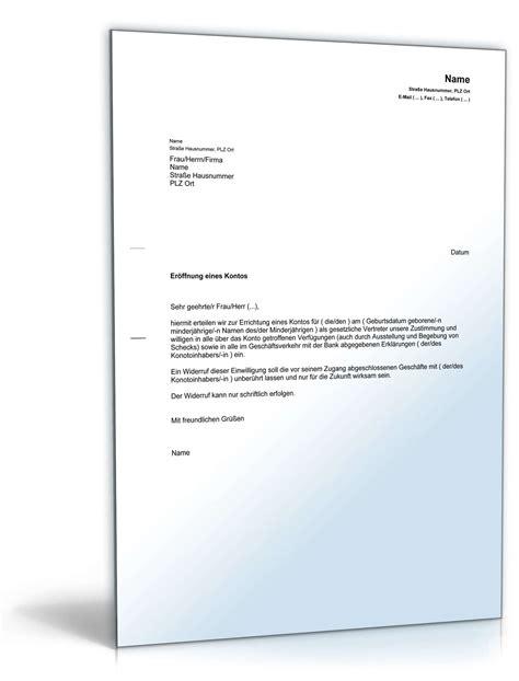 Musterbrief Pdf Bearbeitungsgebühr Kredit Einwilligung Gesetzlicher Vertreter Kontoer 246 Ffnung