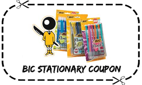 new bic stationary product printable freebies at staples bic coupon 1 off stationary items free staples deal